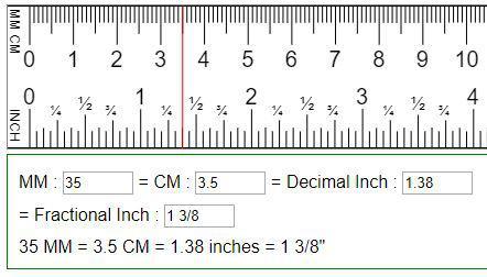 3.5 pouces en cm