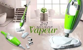 aspirateur nettoyeur vapeur 2 en 1