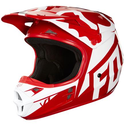 casque moto cross rouge