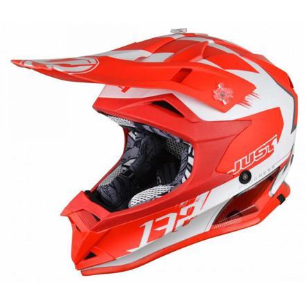 casque moto enfant rouge