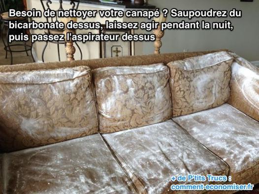 comment détacher un canapé en tissu