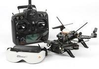drone de course avec lunette