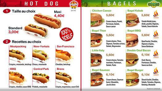 hot dog prix
