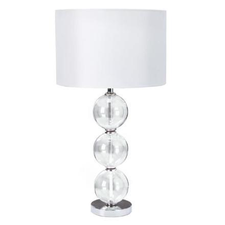lampe pied transparent