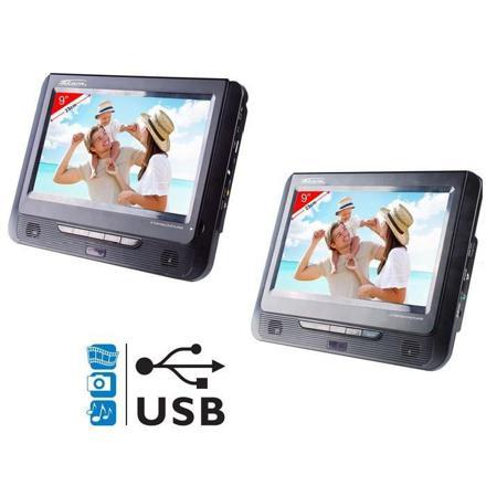 lecteur dvd portable voiture 2 écrans