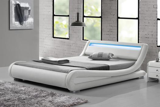 lit led blanc