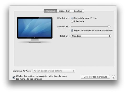 mac videoprojecteur