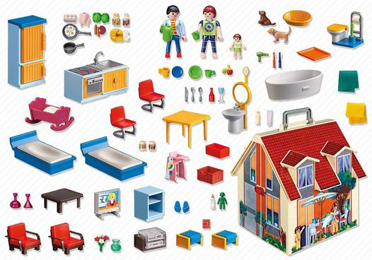 maison playmobil portable