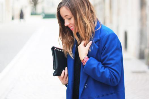 manteau bleu cobalt