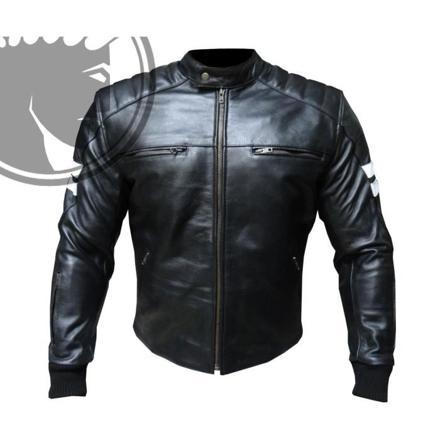 manteau cuir moto