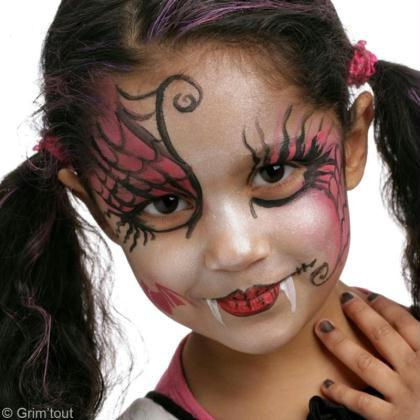 maquillage enfant vampire fille