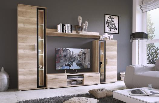meuble tv bois mural