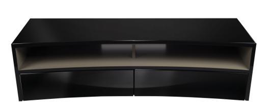 meuble tv incurvé