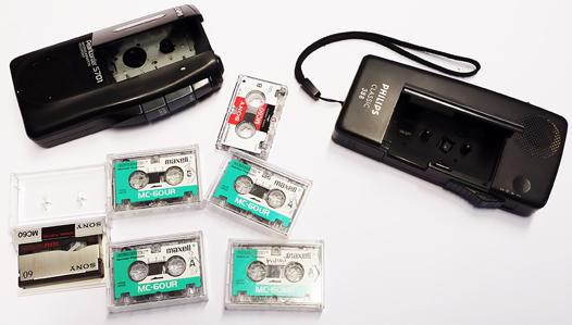 mini cassette dictaphone