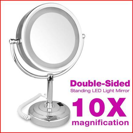 miroir grossissant lumineux x10