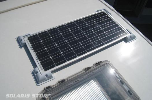 montage d un panneau solaire sur camping car