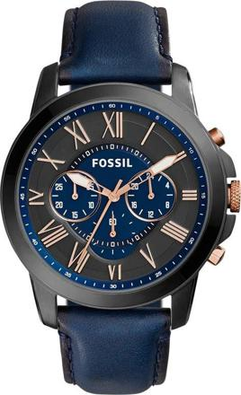 montre bleu fossil