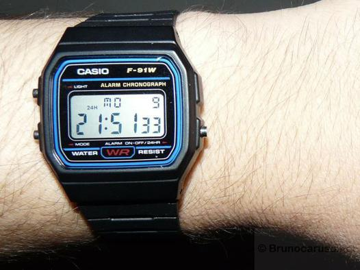 montre casio f91w