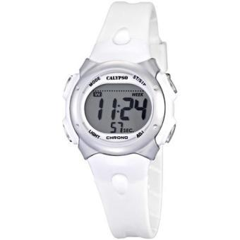 montre digitale blanche