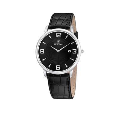 montre festina femme bracelet cuir noir