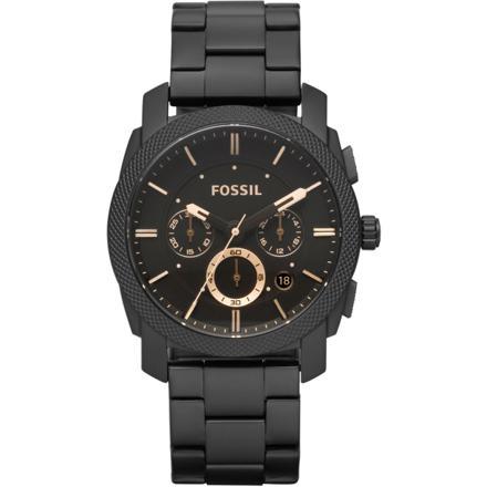 montre fossil homme noir