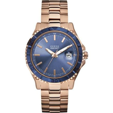 montre guess bleu et or