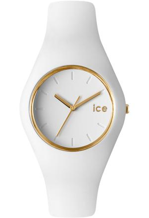 montre ice watch blanche et or
