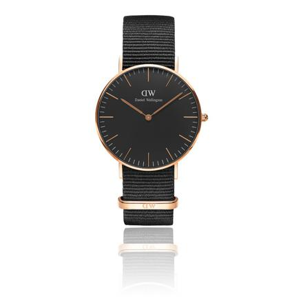 montre noir daniel wellington