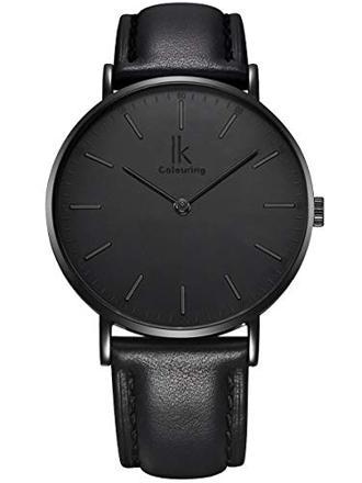 montre noir mat femme