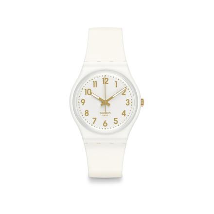 montre swatch blanche femme