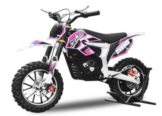 moto enfant rose