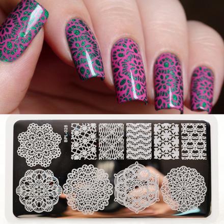 nail art stamping modele
