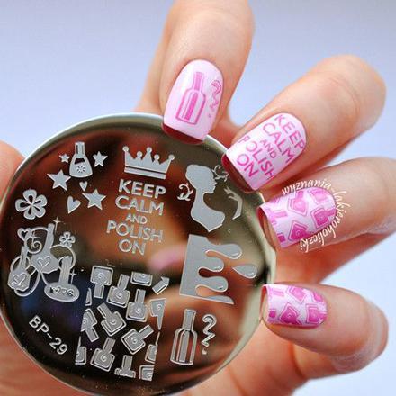 nail art stamping vernis