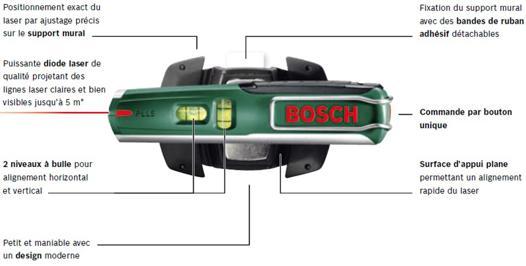 niveau à bulle laser bosch pll 5