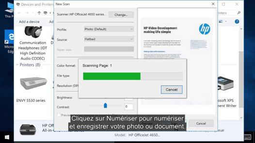 numerisation imprimante vers ordinateur