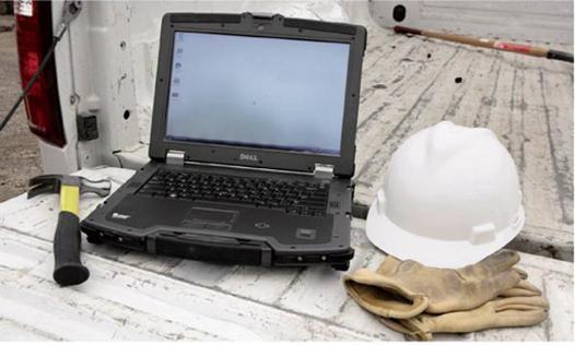 ordinateur portable de chantier