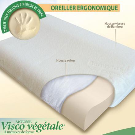 oreiller ergonomique mémoire de forme