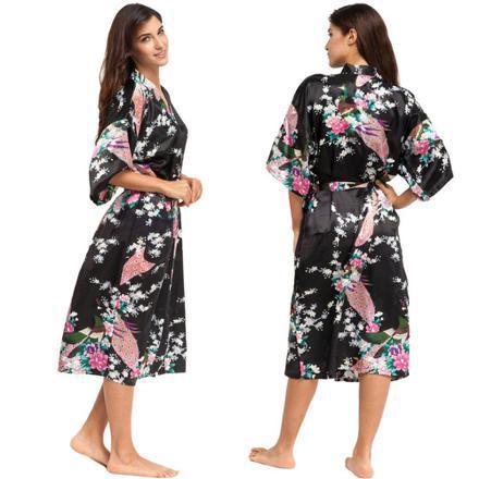 peignoir soie femme japonais
