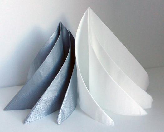 pliage de serviette moderne