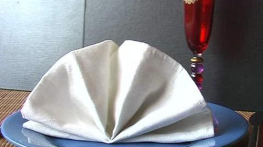 présentation serviette de table