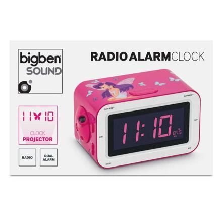 radio reveil rose projecteur