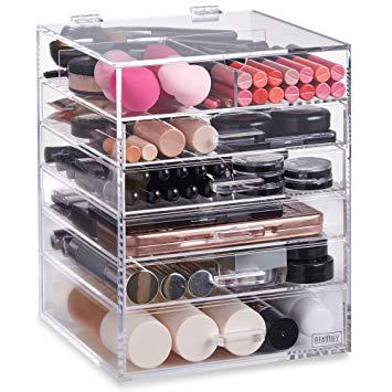 rangement acrylique maquillage
