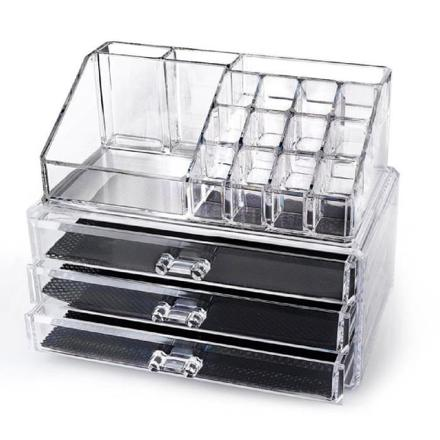 rangement maquillage acrylique transparent