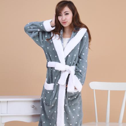 robe de chambre en polaire femme