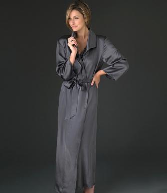 robe de chambre en soie pour femme