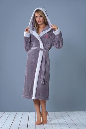 robe de chambre polaire femme avec capuche