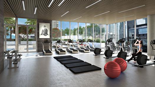 salle de sport moderne luxe