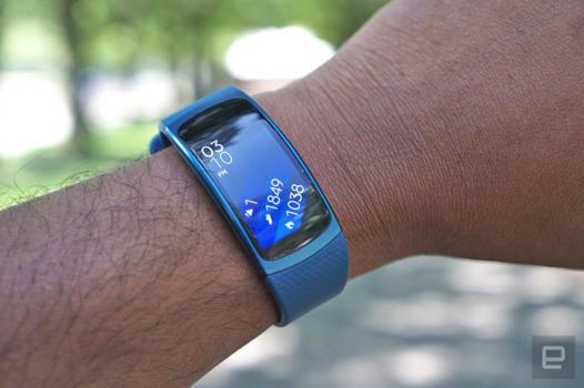 samsung gear fit 2 bleu