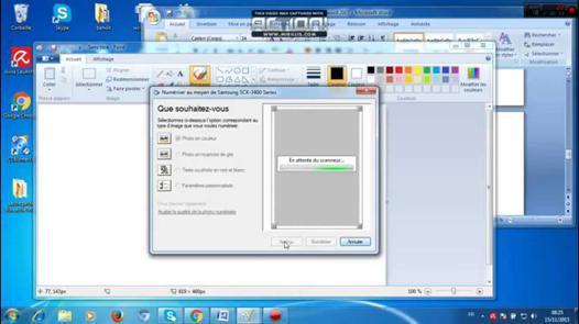 scanner un document avec imprimante hp