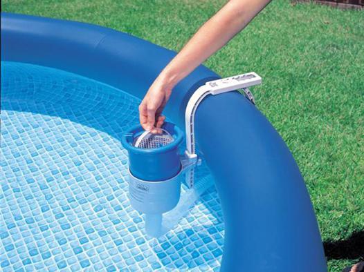 skimmer de surface deluxe intex pour piscine hors sol